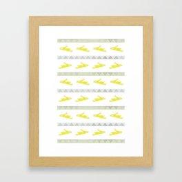 Rabbits in a Row Framed Art Print