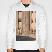 buddhism Hoodies featuring Buddhism ancient place in Sanchi by Four Hands Art