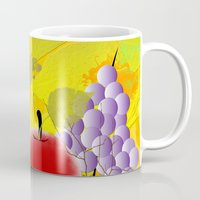 fruit Mugs featuring Fruit by Ramon J Butler-Martinez