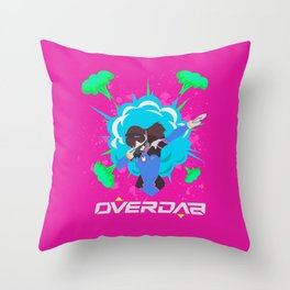 OVERDABBING Throw Pillow