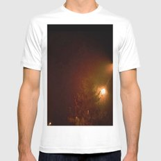 A Cold Winter Night MEDIUM Mens Fitted Tee White