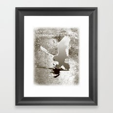 Sick of stereotypes... Framed Art Print