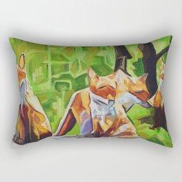 Fox Cub Four Rectangular Pillow