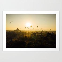 Bagan, Myanmar Art Print