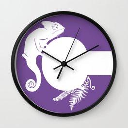 C is for Chameleon - Animal Alphabet Series Wall Clock