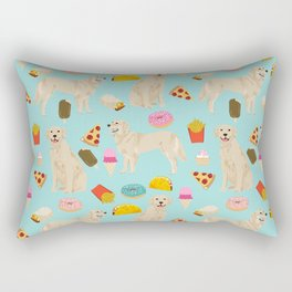Golden Retriever donuts french fries ice cream pizzas funny dog gifts dog breeds Rectangular Pillow