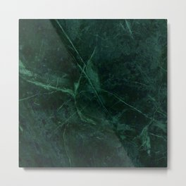 Green Marble Pattern Metal Print