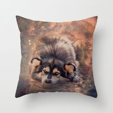Bright-eyed dreamer Throw Pillow