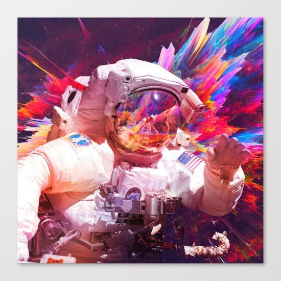 Astronaut (Abstract 30) Canvas Print