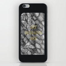 Art remains Art iPhone & iPod Skin