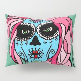 Pastel Sugar Skull Pillow Sham
