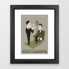 Jeeves & Wooster Framed Art Print