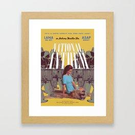 National Anthem music video poster Framed Art Print