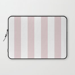 Alice Pink and White Wide Vertical Cabana Stripes Laptop Sleeve