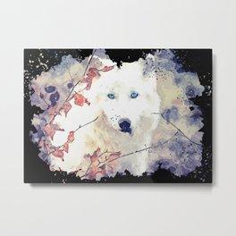 white wolf canvas Metal Print