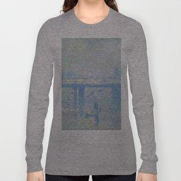 1899-Claude Monet-Charing Cross Bridge-65 x 80 Long Sleeve T-shirt