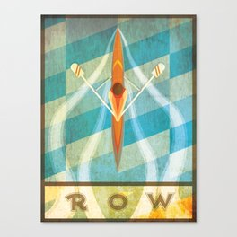The Serenity of Sculling Canvas Print