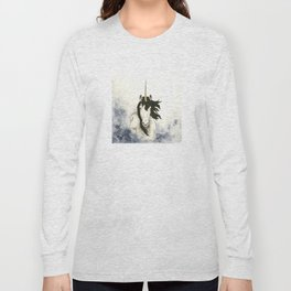 Unicorn in Blue Mist Long Sleeve T-shirt