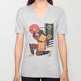 S is for Samurai Unisex V-Neck