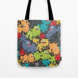 Funny microbes. Tote Bag