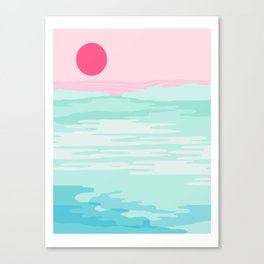 Really - 80s style throwback sunset sunrise west coast socal vibes surfing beach vacation Canvas Print