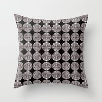 cheshire cat Throw Pillows featuring Cheshire by IRIS Photo & Design