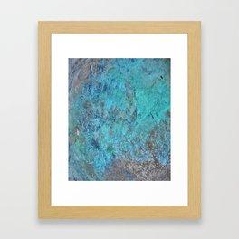 Patina Cast Iron rustic decor Framed Art Print