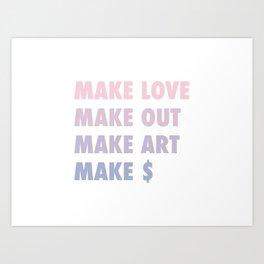MAKE Art Print