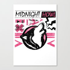 Midnight howl Canvas Print