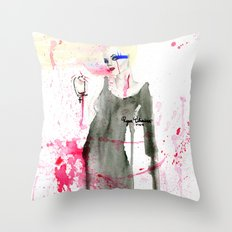 Here at the End Throw Pillow