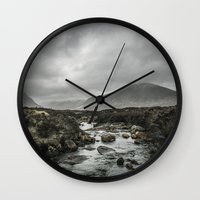 skyfall Wall Clocks featuring Skyfall by tipptapp
