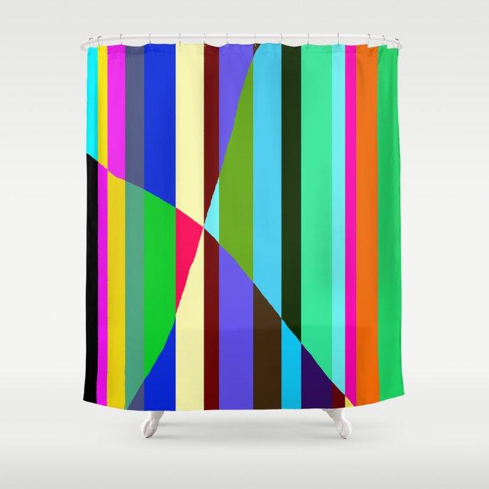 Stripes Interrupted Shower Curtain