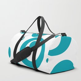 Circles Dots Bubbles :: Turquoise Inverse Duffle Bag