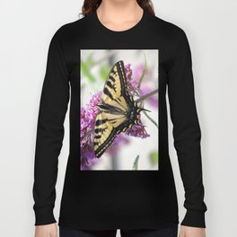 Western Tiger Swallowtail on the Neighbor's Butterfly Bush Long Sleeve T-shirt