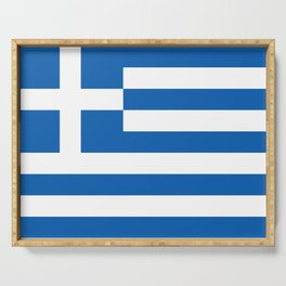 Flag of Greece Greek Serving Tray