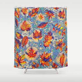 Autumnal leaves Shower Curtain
