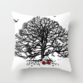 red1 Throw Pillow