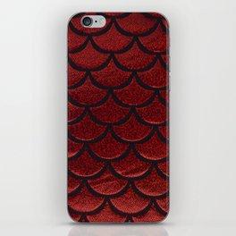Scarlet Sable Scales iPhone Skin