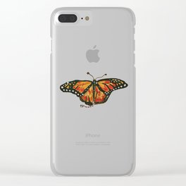fu butterfly Clear iPhone Case
