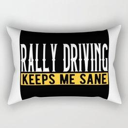 Rally Driving Gift Idea Lovers Design Motif Rectangular Pillow