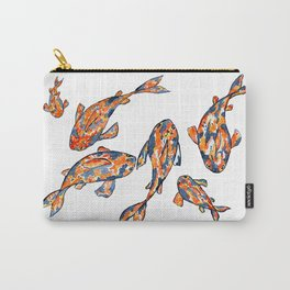 Koi Fish Pond white Carry-All Pouch