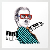 Vintage Elton - Analog Zine Art Print