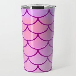 Pink & Purple Mermaid Travel Mug