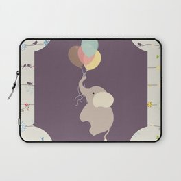 Elephant with Balloons & birds , nursery decor , Laptop Sleeve
