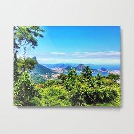 Rio de Janeiro Skyline Metal Print