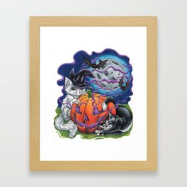 Halloween Kittens Framed Art Print