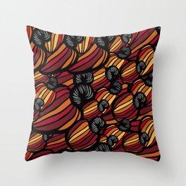 Tropical Cashew Apples Pattern Throw Pillow