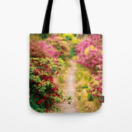 Footpath with azaleas Tote Bag
