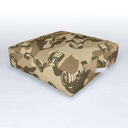 Dumbbell Gym Camo DESERT Outdoor Floor Cushion