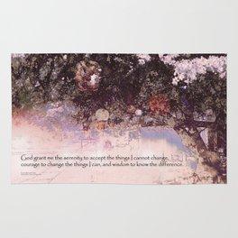Serenity Prayer Blossoms and Lanterns Rug